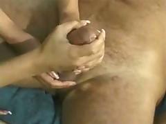 2 Girls doing handjob