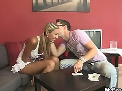 Hot blonde cheating with her BF's bro