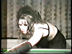 Swinger wife slut gangbanged in Snooker Hall - snake