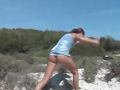 Sandra at the beach