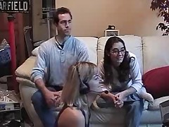 Swinging couple on web cam