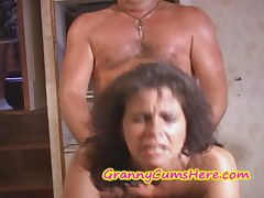 Two GRANNIES get FUCKED and CUM COVERED on Skiff