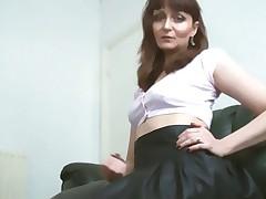 A babe Upskirt Nylon stocking high heels Teasing (MrNo)