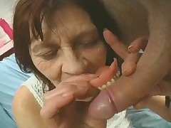 OAP = 'old-age pensioner' Granny Plays with a Bushwa
