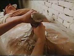 CFNM Female artist molds several penis I