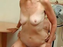 Silver Haired Granny Craves Cock And Cum !