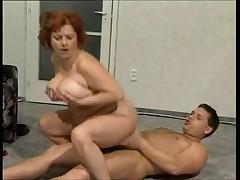 Chubby mature with a younger guy