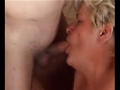 Granny Enjoys Two Big Ones