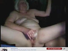 Amateur. Granny had fun on web cam