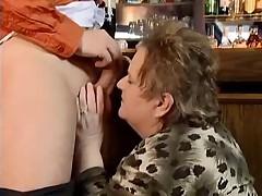 Fat Granny Fucked in a Bar