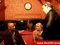 Bigbreasted blonde dutch prostitute