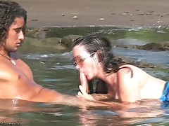 Nikki Fritz Hardcore BJ and Sex on Costa Rica beach