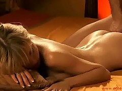 Erotic anal exploration with sensual oil