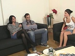 Nasty GF rides his dads cock