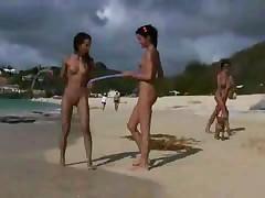 Nude beach naturism fkk shore nacktbaden teen Lesbians