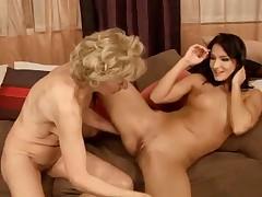 Lesbian: Blonde Granny and Teen