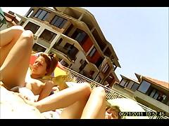 Beach girls in June