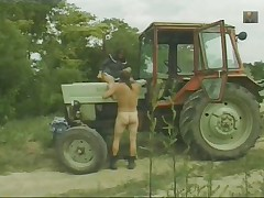 Granny pocha and tractor driver