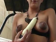 Arab Slut Toys On Golf Cart