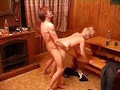 Prudish Granny Fucks Her Young man