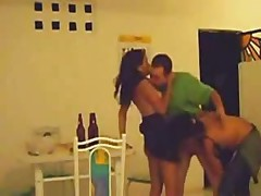 Latin Girl Fucking 2 Friends