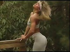 Sexy Blonde Showing Benefits from Exercise