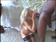 Granny loves that black cock