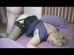 Granny in Lacetop Stockings Fucks