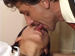 Hot puerile doctor fucks the patient