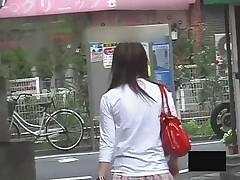 Terror of the Asian girls bending over