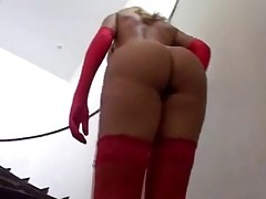 Brazilian showing her big booty!!!