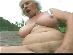 Granny Norma Gone from with Big Toys and a Suck to Finish