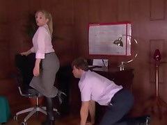 Office Domme hither Stockings Worshipped