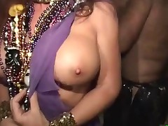 Flashing tits in public