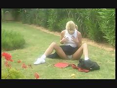 Joanne guest in the garden