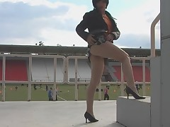 Playing at the Stadium