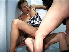 French Mature Woman With 2 Young Guys
