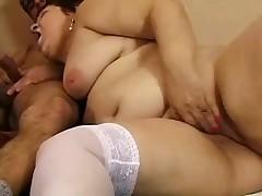 BBW MILF REDHEAD GRANNY ENJOY ANAL SEX