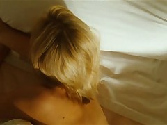 Blonde white woman with black guy - Interracial Softcore
