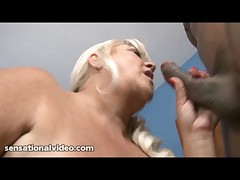 GILF WIth Huge Tits Loves to Suck Big Black Cocks