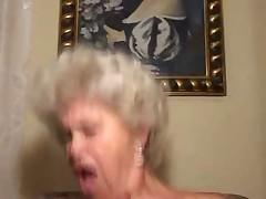 Old Blonde Granny Cocksucker and Fucker