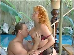 Redhead granny fuck