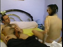French Teen Blackmails the brush At arm's length Teacher...F70
