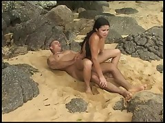 Brazzillian Teen Anal At Beach