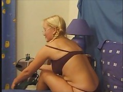 Blond babe russian with an increment of french scrounger (anal extra)
