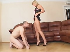 Stunning Blonde Femdom Face-Sitting and Pussy+Ass Licking
