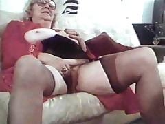 Granny in stocking