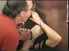 Swinger wife slut with her big black lover - snake