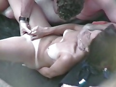 Woman Masturbates and Fucks