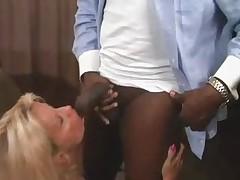 Hot Busty Blonde Granny Bangs BBC